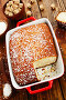 Пирог из манной крупы с кокосовой стружкой. Вид сверху, фото № 25574277, снято 17 февраля 2017 г. (c) Надежда Мишкова / Фотобанк Лори