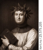Francesco Petrarca or Petrarch, 1304 - 1374, an Italian poet and historian. (2016 год). Редакционное фото, фотограф Heinz-Dieter Falkenstein / age Fotostock / Фотобанк Лори