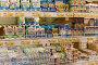 Молочные продукты полках супермаркета, фото № 25576185, снято 16 февраля 2017 г. (c) Юрий Морозов / Фотобанк Лори