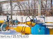 Купить «Узел редуцирования газа, общий вид», фото № 25576633, снято 30 января 2017 г. (c) Игорь Дашко / Фотобанк Лори