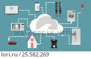 Купить «Home appliances connecting through cloud computing», видеоролик № 25582269, снято 17 февраля 2020 г. (c) Wavebreak Media / Фотобанк Лори
