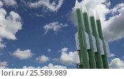 Купить «Modern Russian anti-aircraft missiles against the sky», видеоролик № 25589989, снято 19 февраля 2017 г. (c) Владимир Журавлев / Фотобанк Лори