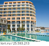 Купить «Hotel Azalia, Saints Constantine and Helena resort, Bulgaria», фото № 25593213, снято 10 апреля 2015 г. (c) ИВА Афонская / Фотобанк Лори