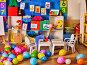 Kindergarten interior decoration child picture on wall., фото № 25595897, снято 4 октября 2015 г. (c) Gennadiy Poznyakov / Фотобанк Лори