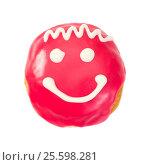 Купить «Berliner donut with smile», фото № 25598281, снято 16 февраля 2017 г. (c) Наталия Пыжова / Фотобанк Лори