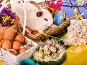 Easter bunny and egg. Rabbit among spring holiday flowers., фото № 25600085, снято 11 октября 2015 г. (c) Gennadiy Poznyakov / Фотобанк Лори