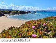 Atlantic sandy Islas beach (Spain). (2016 год). Стоковое фото, фотограф Юрий Брыкайло / Фотобанк Лори