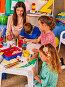 Children painting and drawing together . Craft lesson in primary school., фото № 25607113, снято 4 октября 2015 г. (c) Gennadiy Poznyakov / Фотобанк Лори