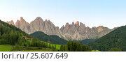 Купить «Amazing panoramic landscape at Italian South Tyrol», фото № 25607649, снято 16 августа 2018 г. (c) Николай Михальченко / Фотобанк Лори