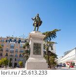 Купить «Estatua de Miguel de Cervantes.Мadrid.», эксклюзивное фото № 25613233, снято 5 октября 2012 г. (c) Владимир Чинин / Фотобанк Лори