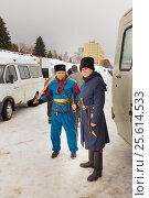 Купить «Казаки. Самара», фото № 25614533, снято 23 февраля 2017 г. (c) Акиньшин Владимир / Фотобанк Лори