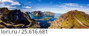 Купить «Lofoten archipelago panorama», фото № 25616681, снято 1 июля 2016 г. (c) Андрей Армягов / Фотобанк Лори