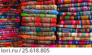 Купить «Rugged Peruvian textile», фото № 25618805, снято 7 октября 2016 г. (c) AK Imaging / Фотобанк Лори