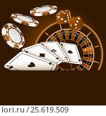 Composition on gamblings. Стоковая иллюстрация, иллюстратор Silanti / Фотобанк Лори