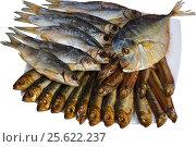 Рыбное ассорти на тарелке. Стоковое фото, фотограф ValeriyK / Фотобанк Лори