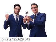 Купить «Businessman receiving award isolated on white», фото № 25629549, снято 23 ноября 2016 г. (c) Elnur / Фотобанк Лори