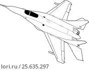 Купить «Russian jet fighter aircraft MiG-29», иллюстрация № 25635297 (c) Илья Малов / Фотобанк Лори