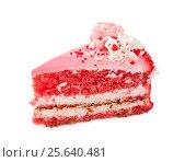 Купить «Piece of strawberry cake», фото № 25640481, снято 27 февраля 2017 г. (c) Наталия Пыжова / Фотобанк Лори