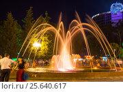Купить «Фонтан с ночной подсветкой в приморском парке Батуми. Грузия», фото № 25640617, снято 13 июля 2013 г. (c) Евгений Ткачёв / Фотобанк Лори