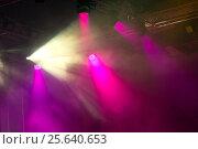Купить «Сценические огни. Софиты. Концертное освещение», фото № 25640653, снято 26 февраля 2016 г. (c) Евгений Ткачёв / Фотобанк Лори