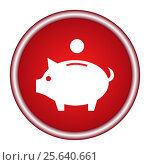 Купить «Pig icon on a red background», иллюстрация № 25640661 (c) Наталия Попова / Фотобанк Лори