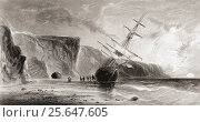 Midnight in September, from Arctic Explorations in the Years 1853,54,55 by American explorer Doctor Elisha Kent Kane, 1820 to 1857. Volume 1 published... Редакционное фото, фотограф Classic Vision / age Fotostock / Фотобанк Лори