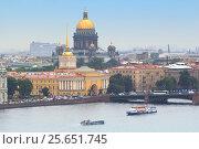 Купить «Петербург, вид на Адмиралтейскую набережную», фото № 25651745, снято 8 сентября 2015 г. (c) NataMint / Фотобанк Лори