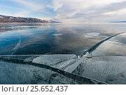 Купить «Landscape of ice on Lake Baikal, Siberia, Russia, Lake Baikal, Siberia, Russia. March», фото № 25652437, снято 24 апреля 2019 г. (c) Nature Picture Library / Фотобанк Лори