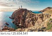 Lighthouse of Cabo de Gata-Nijar Natural Park. Spain (2016 год). Стоковое фото, фотограф Alexander Tihonovs / Фотобанк Лори