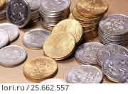 Купить «Монеты банка России», эксклюзивное фото № 25662557, снято 4 марта 2017 г. (c) Яна Королёва / Фотобанк Лори