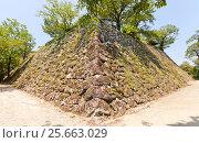 Купить «Каменные стены (исигаки) замка Коти, остров Сикоку, Япония», фото № 25663029, снято 19 июля 2016 г. (c) Иван Марчук / Фотобанк Лори