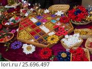 Купить «Germany, Baden-Württemberg, Herrenberg, Christmas market, stall with Froebel stars, Christmas decorations,», фото № 25696497, снято 8 декабря 2013 г. (c) mauritius images / Фотобанк Лори