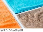 close up of bath towels. Стоковое фото, фотограф Syda Productions / Фотобанк Лори
