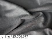 Купить «close up of gray textile or fabric background», фото № 25706677, снято 15 сентября 2016 г. (c) Syda Productions / Фотобанк Лори