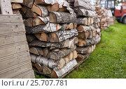 Купить «stack of firewood on farm at country», фото № 25707781, снято 25 августа 2016 г. (c) Syda Productions / Фотобанк Лори