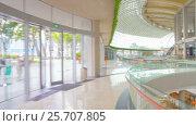 Купить «Moving through shopping mall point of view motion timelapse», видеоролик № 25707805, снято 27 февраля 2017 г. (c) Кирилл Трифонов / Фотобанк Лори
