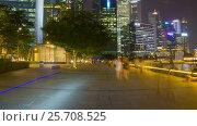 Купить «Nighttime Singapore hyperlapse», видеоролик № 25708525, снято 18 октября 2018 г. (c) Кирилл Трифонов / Фотобанк Лори