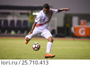 Купить «9 Andy Reyes shooting. Costa Rica earned a 1-0 win over Trinidad & Tobago on Wednesday february 22, 2017 at the Estadio Nacional. CONCACAF Under-20 Championship.», фото № 25710413, снято 22 февраля 2017 г. (c) age Fotostock / Фотобанк Лори
