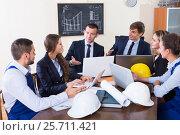 Купить «professionals having meeting indoors», фото № 25711421, снято 7 декабря 2019 г. (c) Яков Филимонов / Фотобанк Лори