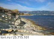 Геленджик, Тонкий мыс, флиши на диком пляже, эксклюзивное фото № 25715101, снято 4 октября 2014 г. (c) Dmitry29 / Фотобанк Лори