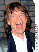 Купить «HBO's 'Vinyl' series premiere - Arrivals Featuring: Mick Jagger Where: New York, New York, United States When: 15 Jan 2016 Credit: Ivan Nikolov/WENN.com», фото № 25715517, снято 15 января 2016 г. (c) age Fotostock / Фотобанк Лори