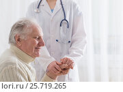 elderly man with doctor. Стоковое фото, фотограф Майя Крученкова / Фотобанк Лори