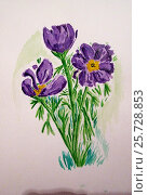 Сиреневые цветы. Стоковая иллюстрация, иллюстратор Иван Носков / Фотобанк Лори