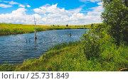 Купить «Река Упа в Тульской области», фото № 25731849, снято 9 июля 2016 г. (c) Валерий Боярский / Фотобанк Лори