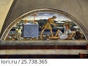 Купить «Tavarnelle, Italy, fresco by Bernardo di Stefano Rosselli in the Abbey of Badia a Passignano», фото № 25738365, снято 19 августа 2016 г. (c) Caro Photoagency / Фотобанк Лори