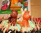 """Звери в окружении огня. Выставка детского творчества в музее """"В мире сказки"""". Смоленск, эксклюзивное фото № 25739557, снято 17 августа 2016 г. (c) Александр Щепин / Фотобанк Лори"""