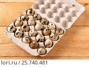 Перепелиные яйца в бумажном контейнере. Стоковое фото, фотограф Скляров Роман / Фотобанк Лори