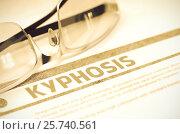Купить «Diagnosis - Kyphosis. Medical Concept. 3D Illustration.», иллюстрация № 25740561 (c) Илья Урядников / Фотобанк Лори