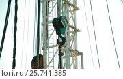 Купить «Hook of construction crane», видеоролик № 25741385, снято 17 ноября 2016 г. (c) Илья Насакин / Фотобанк Лори