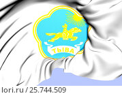 Купить «Tyva Republic Coat of Arms, Russia. Close Up.», фото № 25744509, снято 17 августа 2018 г. (c) age Fotostock / Фотобанк Лори